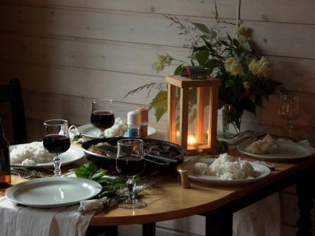 Tischdeko aus Klopapier und Löwenzahn - kreativ muss man sein, ne Anke?!