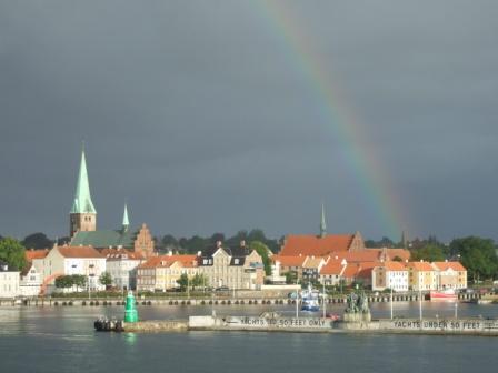 die gute alte Heimat - Helsingør… mit Guten-Morgen-Regenbogen