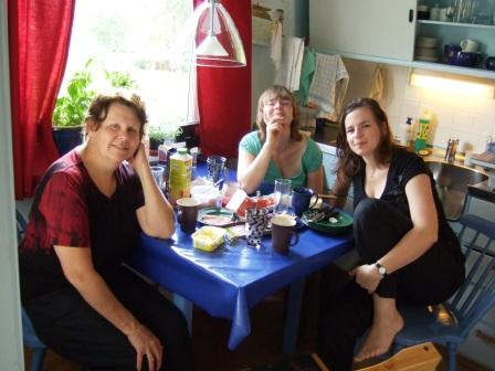 Sissels Küche in ihrem gelben Haus