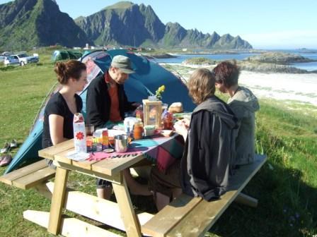 Was für ein Frühstücksplatz!