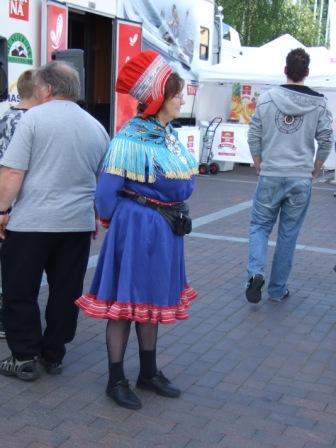 erste Saami auf dem Markt