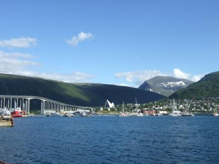 Sicht auf Tromsdalen (Festland)