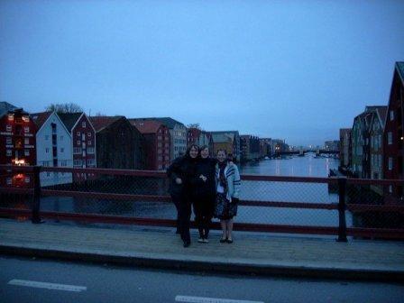 Trondheims alte Brücke und Bryggene