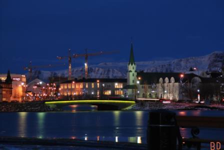 Reykjavik by night