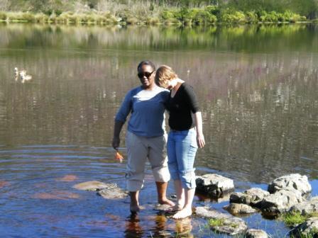 Füße kühlen im Dam