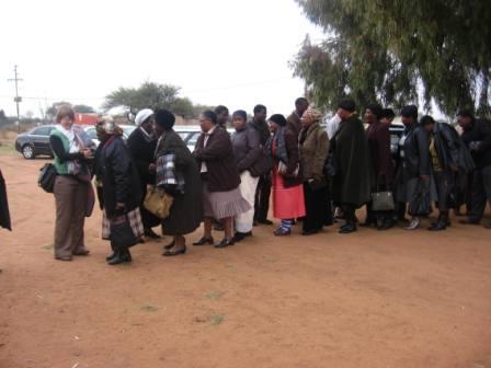 singender Abschied und Dank (hier in Pretoria)