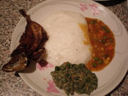 Tinwhembe-Kraut und Fisch